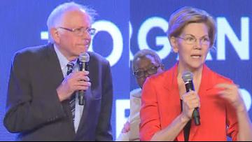 Bernie Sanders, Elizabeth Warren speak to Atlanta youth conference
