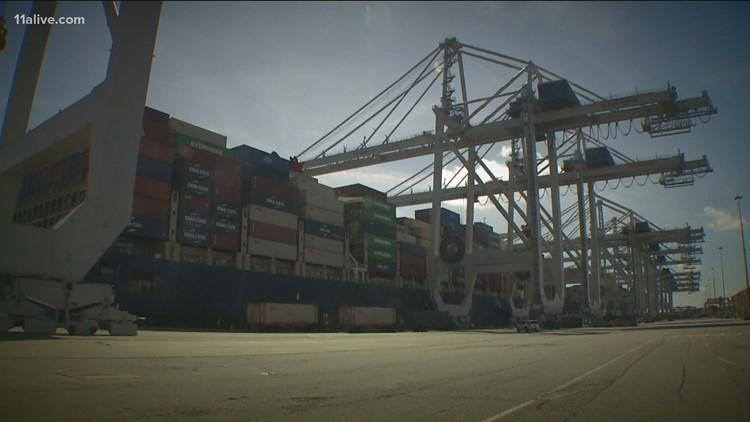 Supply chain issues create Port of Savannah backlog