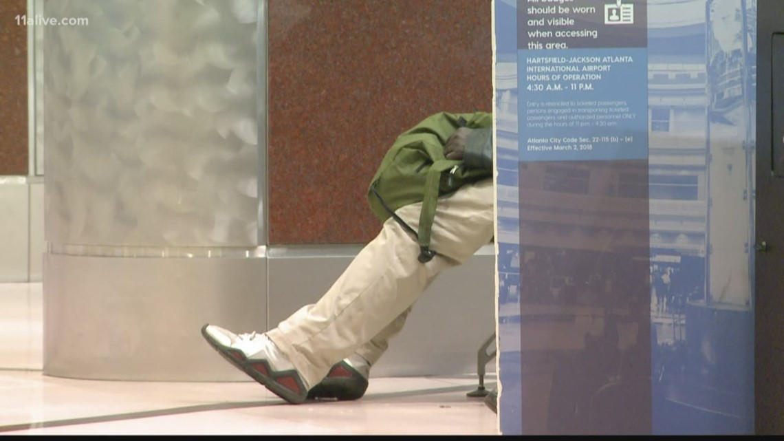 Hartsfield-Jackson, an overnight haven for the homeless?
