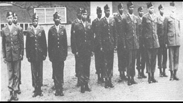 "A historic leap | The last few living African-American paratroopers ""Triple Nickels"" of WWII"
