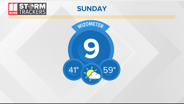 Clouds, some fog to start Sunday. Warmer by afternoon