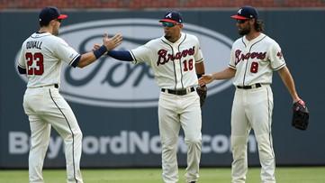 Acuña yanked, Ortega slam lead Braves over Dodgers 5-3