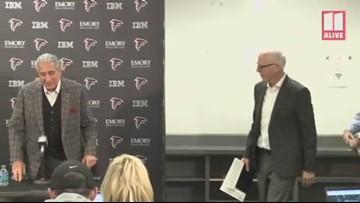 Atlanta Falcons owner Arthur Blank, president/CEO Rich McKay discuss decision to keep coach, GM