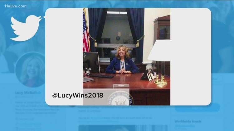 Lucy McBath tweets picture from behind congressional desk 'This is for you, Jordan'