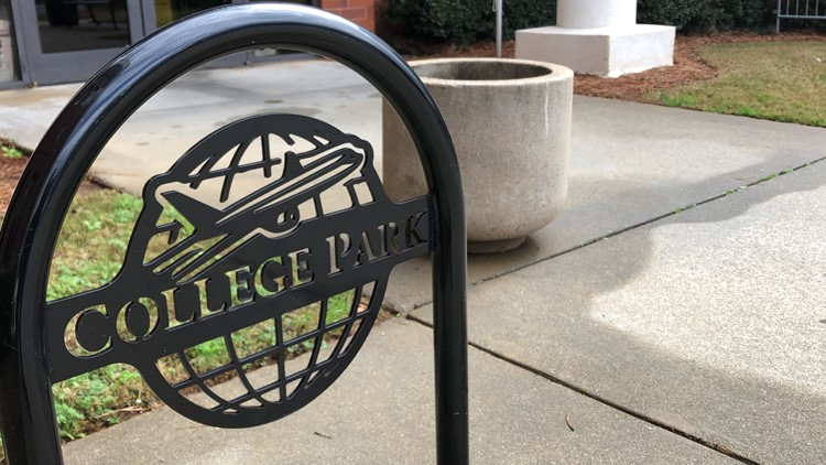 College Park City logo outside of City Hall