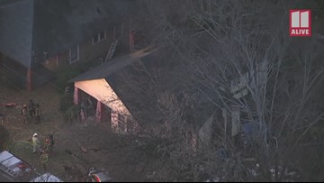 Woman critically burned in Southwest Atlanta house fire: Aerial video