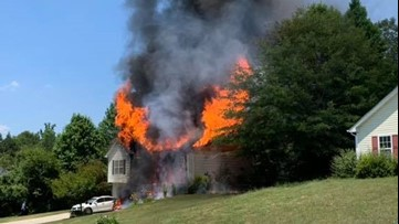 Fire engulfs Atlanta area home on Memorial Day weekend