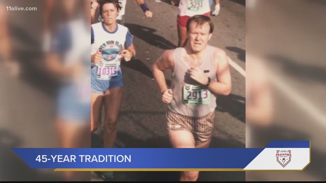 45th consecutive race: An Atlanta man's longtime running tradition at AJC Peachtree Road Race