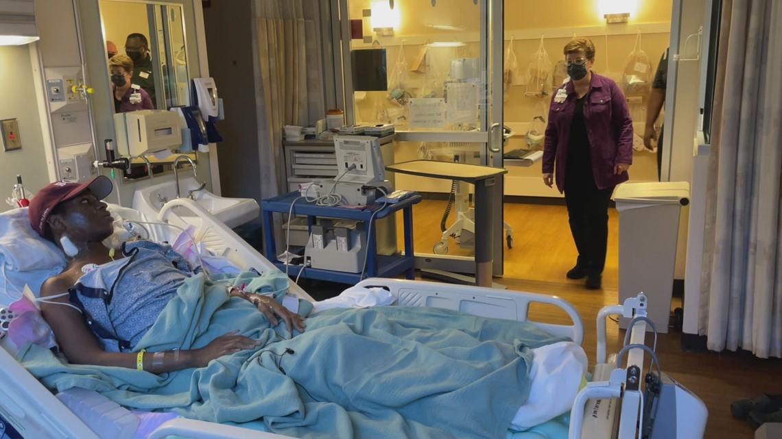 ICU patient surprised by 'Drumline' movie band members