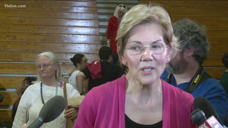 Elizabeth Warren brings 2020 presidential campaign to Georgia