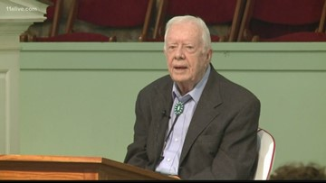 Former President Jimmy Carter still recuperating at Emory