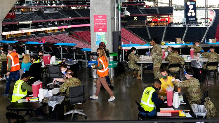 Need a vaccine? You don't need an appointment this week at Mercedes-Benz Stadium