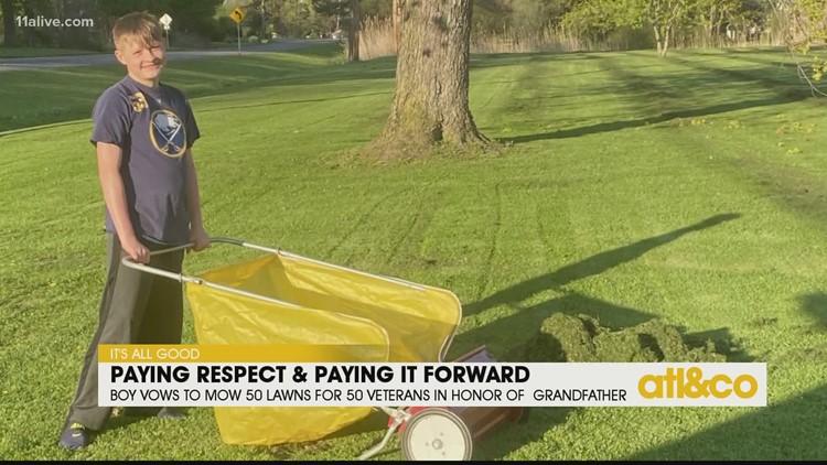 Boy Mows 50 Lawns for 50 Veterans