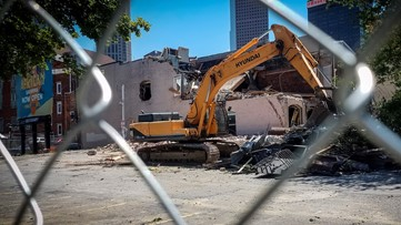 Building with country music legacy partially demolished