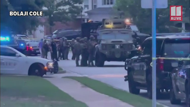 SWAT standoff in Newnan after man allegedly shoots son on June 21, 2021