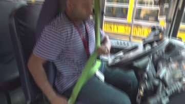 Bus driver revisits accident site that made him a hero
