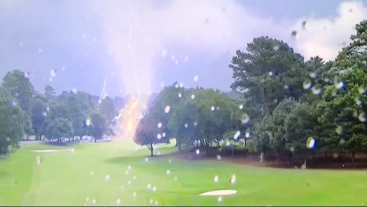 Crews responding to lightning strike injuries at East Lake Golf Club during FedEx Cup