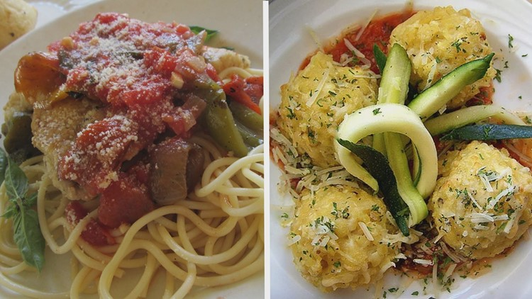 spaghetti and meatballs grind dining before and after