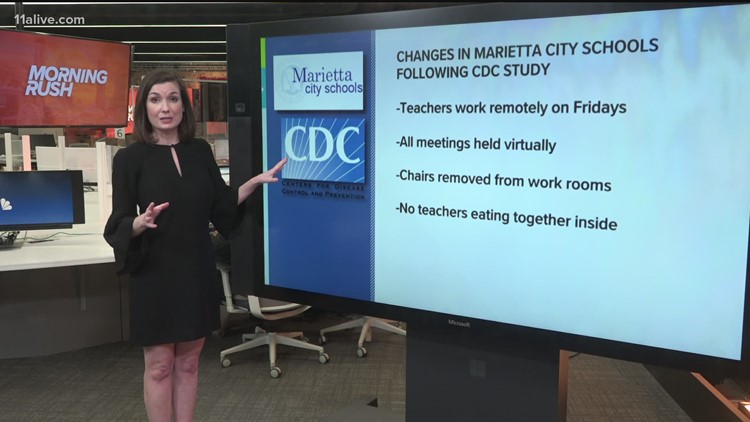 COVID-19 in Georgia latest    Marietta plans changes after CDC study on spread in schools