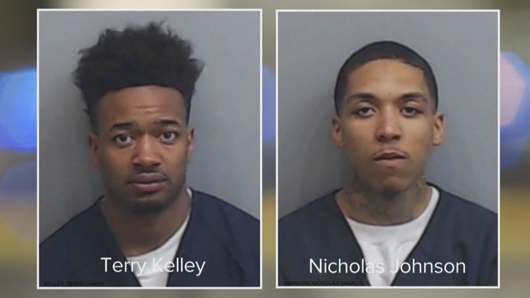 Monday's Jail Booking Photos of Kelley and Johnson