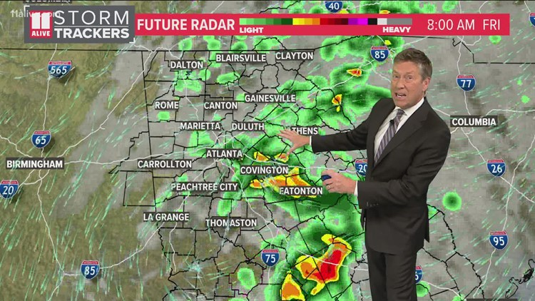 Rain could impact your Friday morning commute