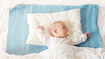 Why is it best to place an infant on its back?