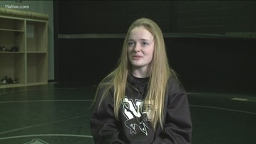 North Forsyth wrestler recalls the events of her history-making state title