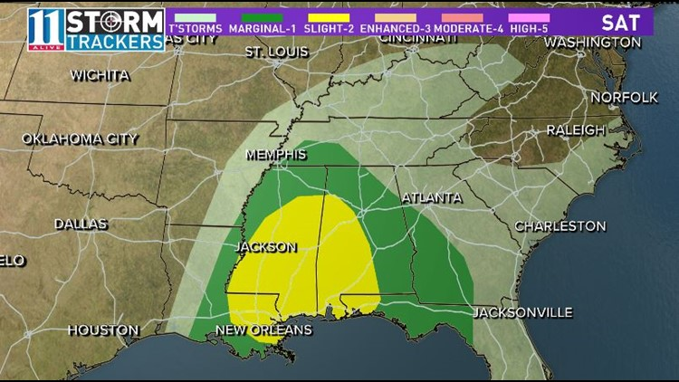 Southeast severe risk