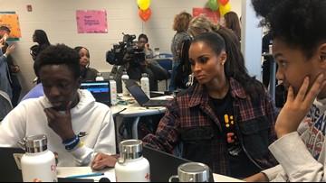 Grammy Award-winning singer Ciara surprises metro Atlanta computer science class