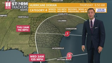 Hurricane Dorian shifts east overnight | Saturday morning update