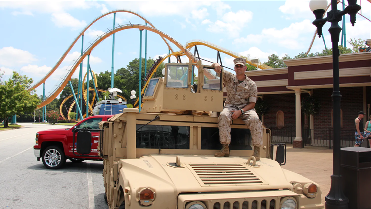 Military service members get into Six Flags Over Georgia free this weekend