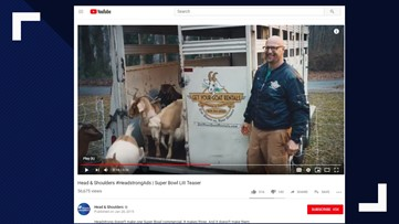 Roswell goats to be featured in Super Bowl commercial