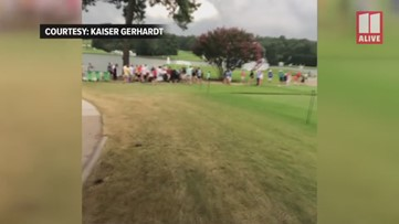 Witness records chaos after PGA TOUR Championship lightning strike