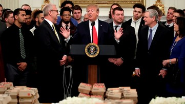 Chick-fil-A gets starring role at President Trump's White House feast for football champions