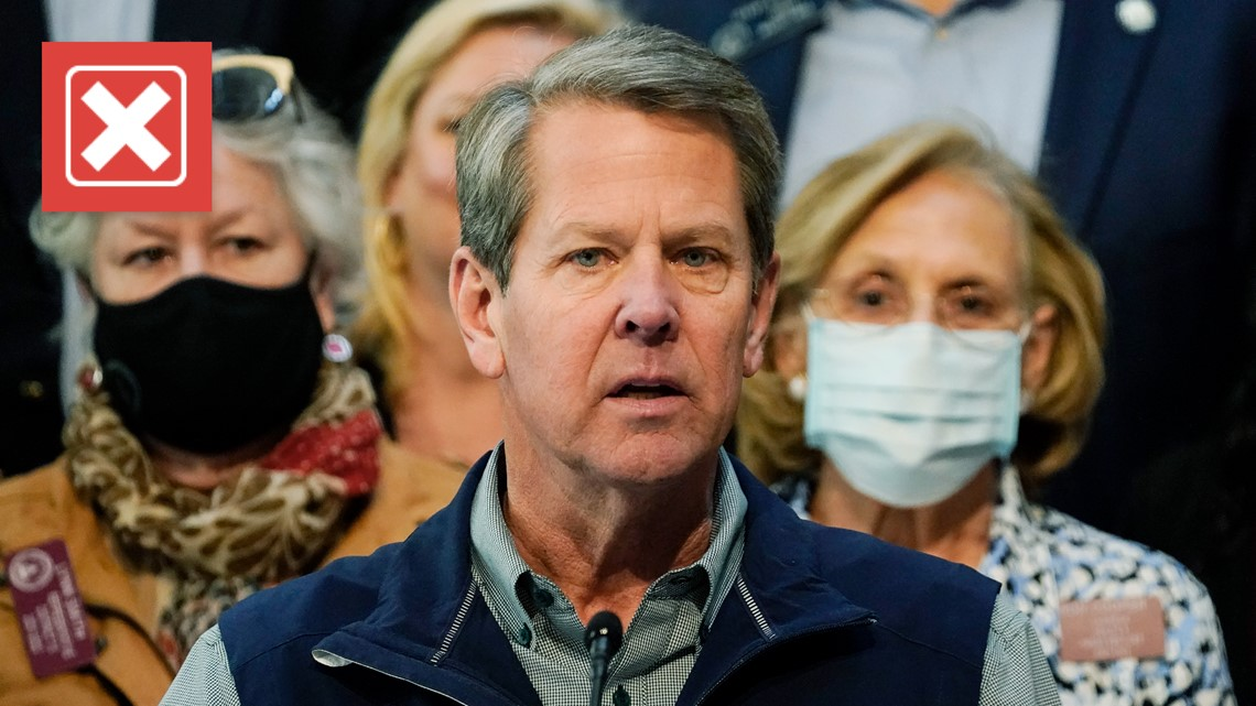 VERIFY: Gov. Kemp claimed mandating a non-existent AIDS vaccine didn't work