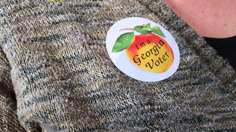 'Voter' sticker in East Point