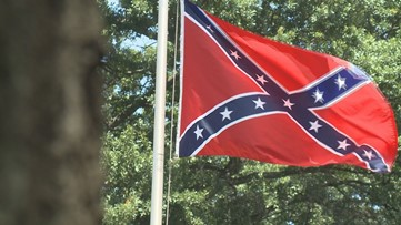 Alpharetta parade excluded Confederate flags - so protesters brought them to roadside