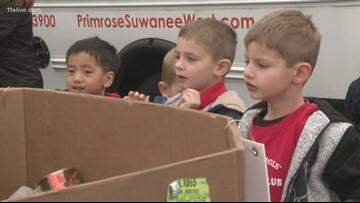 Primrose School children join the Can-A-Thon fun!