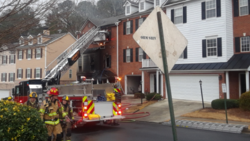 Two families displaced by Buford townhouse fire