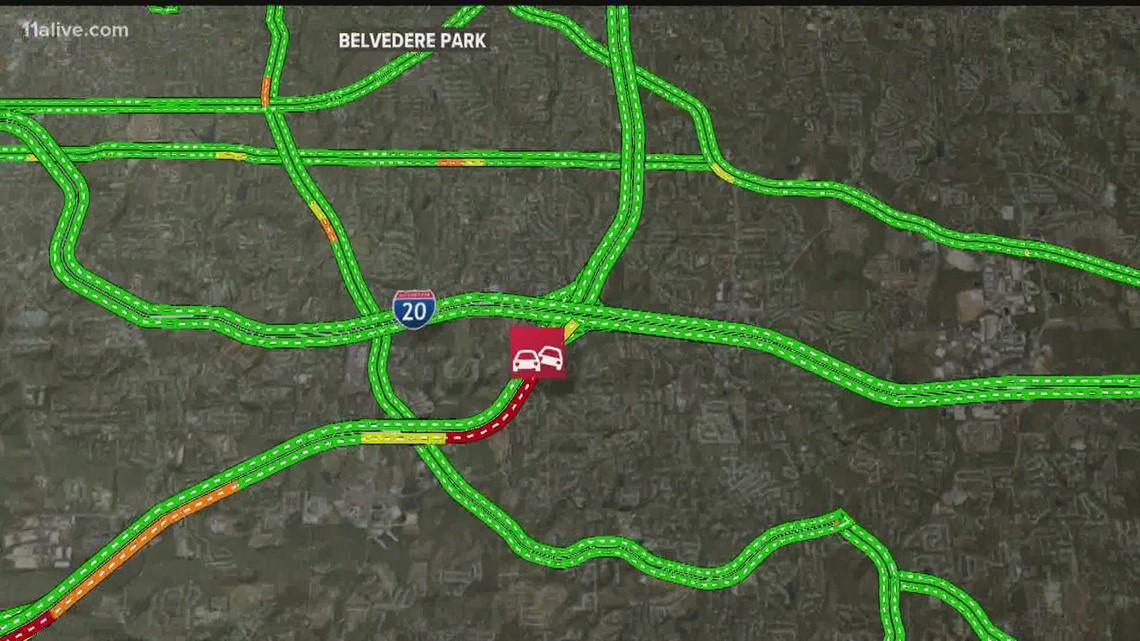 I-285 North gridlock before I-20