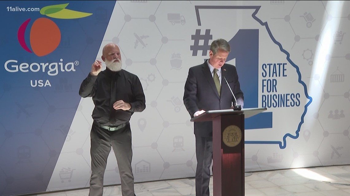 The story behind the deaf interpreter seen at many of Gov. Kemp's news conferences