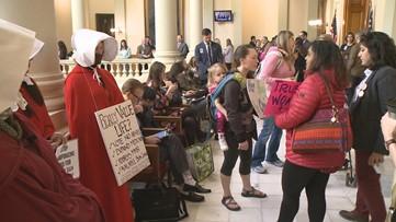 Crowds gathered at Georgia Capitol as Senate debated 'heartbeat' abortion bill