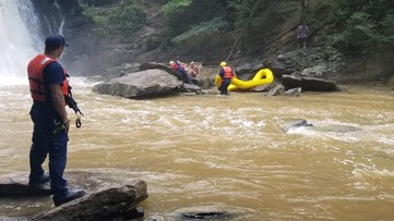Roswell fire crews rescue small child from Big Creek