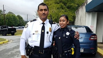 Daughter follows dad's footsteps and joins Atlanta Police force