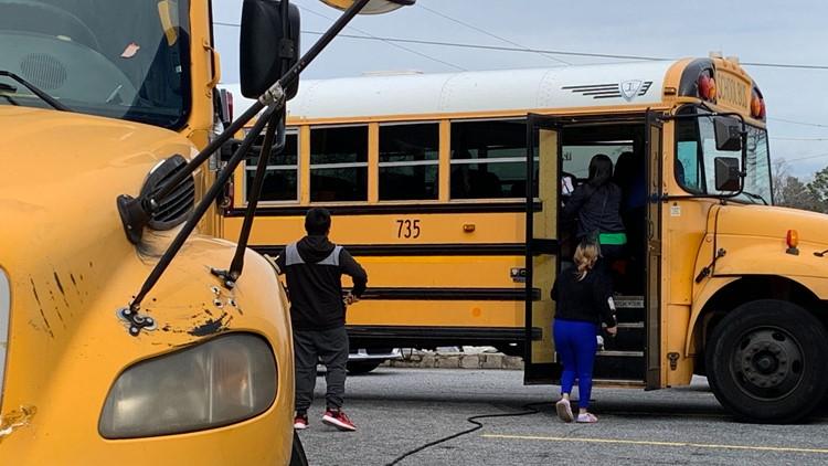 school bus crash damage