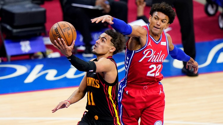 Hawks, Trae Young fend off rally, defeat 76ers 128-124
