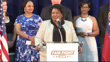 Stacey Abrams brings Fair Fight 2020 to Georgia during speech at Gwinnett County elementary school