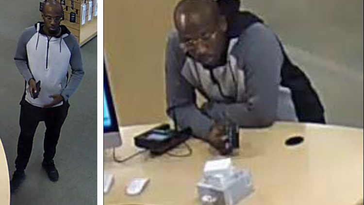 Think different? Police search for man who swiped MacBook in pants
