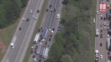 Downed power lines snarl traffic on I-20 in Douglas County