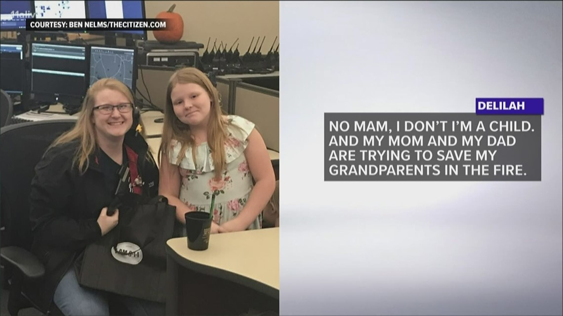 Girl bravely dials 911 during fire to help save family